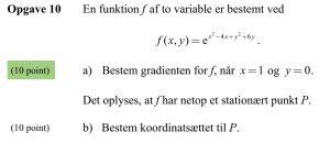Beskrivelse af pointsystemet ved opgaver i matematik.